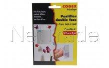 Facom - Pastilles adhesives double face 25 pièces. propre, - 84107