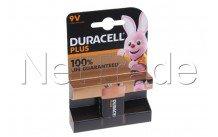 Duracell pile alcaline  mn1604 - 6lr61 - 9v - plus 100% extra life blister - 12739
