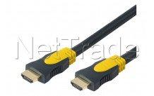 Erard - Hdmi 1.4  flex - ultra hd 4k - high speed with ethernet - type a mâle/mâle - gaine ultra flexible 2m - 726830
