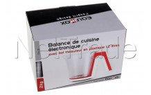 Equinox - Balance elec plast 1.2l blanc/rouge - 516559