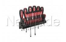 Cogex - Rack de 18 tournevis bimatière avec support mural: - 16184