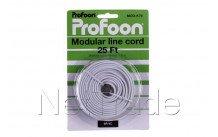 Profoon - Modulaire kabel 6p4c, wit 7,6 m. mod-k76 - MODK76