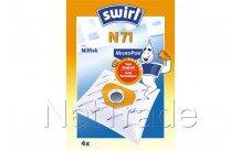 Swirl - Stofzuigerzak n71  4 stuks - N71