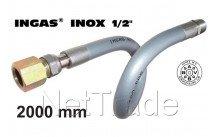 Universeel - Inox ingas 2000mm 1/2
