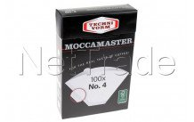 Moccamaster - Papiere koffiefilter - nr 4 - pack/100 - 85022