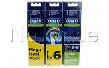 Oral-b - Opzetborstels - eb50 rb crossaction refills 2+2+2 - 80339534