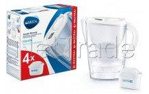 Brita - Marella cool white + 4 maxtra+ filter - 1040691
