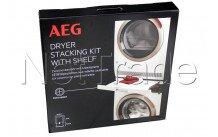 Aeg - Stapelkit met uittrekbaar rek voor aeg wasmachines en drogers  skp11gw - 9029797942
