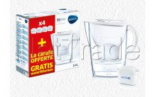 Brita fill&enjoy marella cool white + 4 maxtra+ filter - 1040843
