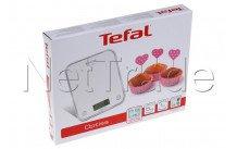 Tefal - Bc5004v2 keukenweegschaal  optiss  - 5kg  -  silver - BC5004V2