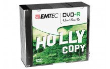 Emtec dvd-r 4,7gb 16x slim case (10 st/pcs) - ECOVR471016SL