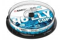 Emtec dvd+rw 4,7gb 4x cb cakebox (10 st/pcs) - ECOVPRW47104CB