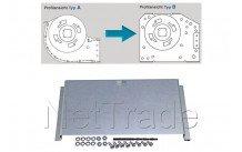 Aeg - Ombouwplaat voor ventilator tangiaal - systeem  a naar b - 180mm - 691677