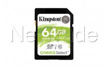 Kingston technology canvas select 64gb sdxc uhs-i klasse 10 flashgeheugen - SDS64GB