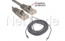 C2g cables - Netwerk/utp cable 5m - cat5e 350mhz - rj45 (m) grey snagless protection - 83145