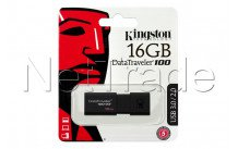 Kingston datatraveler 100 generation 3 - 16gb usb3.1 flash drive black - DT100G316GB