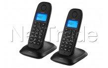 Topcom - Draadloze dect-telefoon - twin zwart telefoonboek - nummerweergave - TE5732