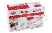 Seb - Glazen potjes yoghurtbereider - set 6st - XF100501